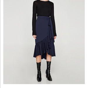 Zara Crossed Wrap Skirt
